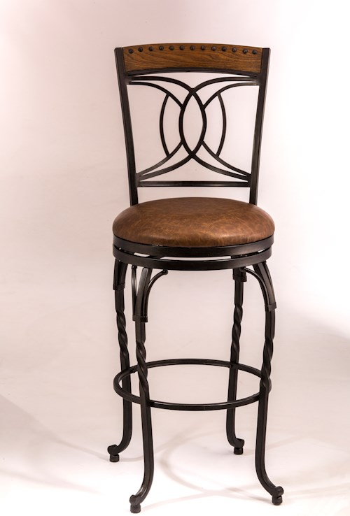 Hillsdale Metal Stools Swivel Counter Height Stool