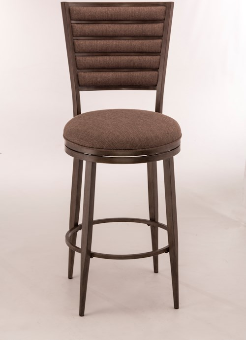 Hillsdale Metal Stools Swivel Counter Height Stool With Upholstered Backrest