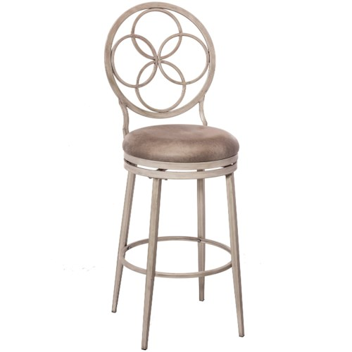 Hillsdale Metal Stools Swivel Counter Stool with Celtic Inspired Backrest