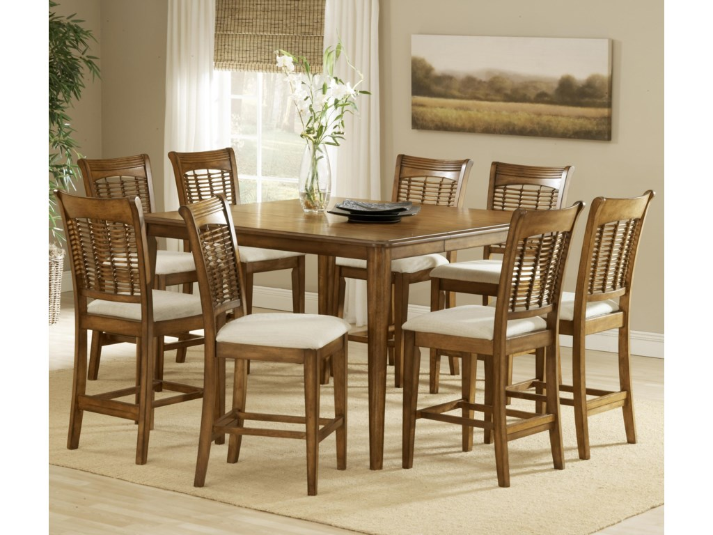 Hillsdale Bayberry and GlenmaryNine-Piece Counter Height Dining Set