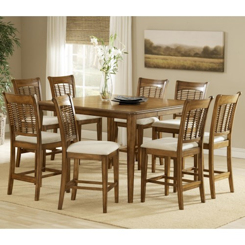 Hillsdale Bayberry and Glenmary Nine-Piece Counter Height Dining Set