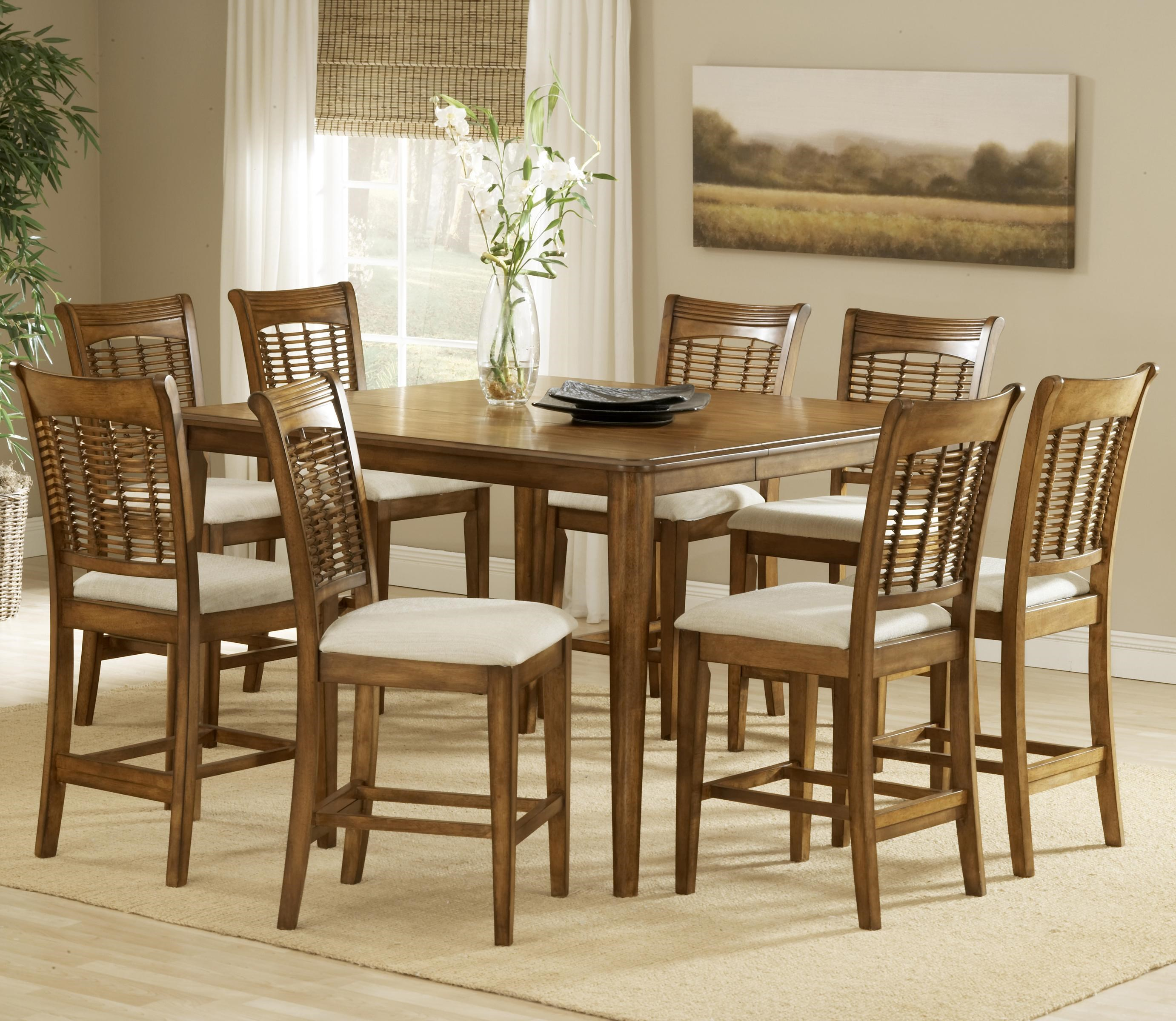 Hillsdale Bayberry And Glenmary Nine Piece Counter Height Dining Set