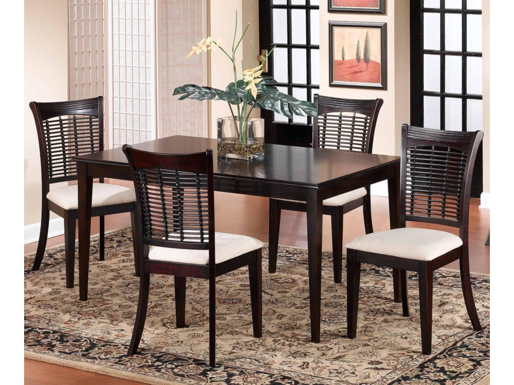 Hillsdale Bayberry and GlenmaryFive Piece Rectangle Dining Set