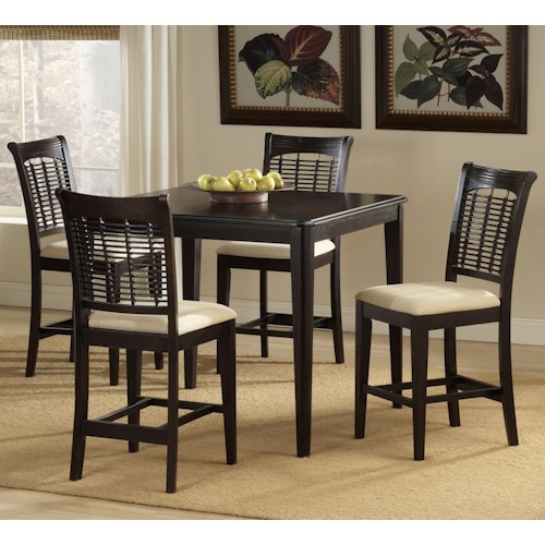 Hillsdale Bayberry and Glenmary Five Piece Counter Height Dining Set