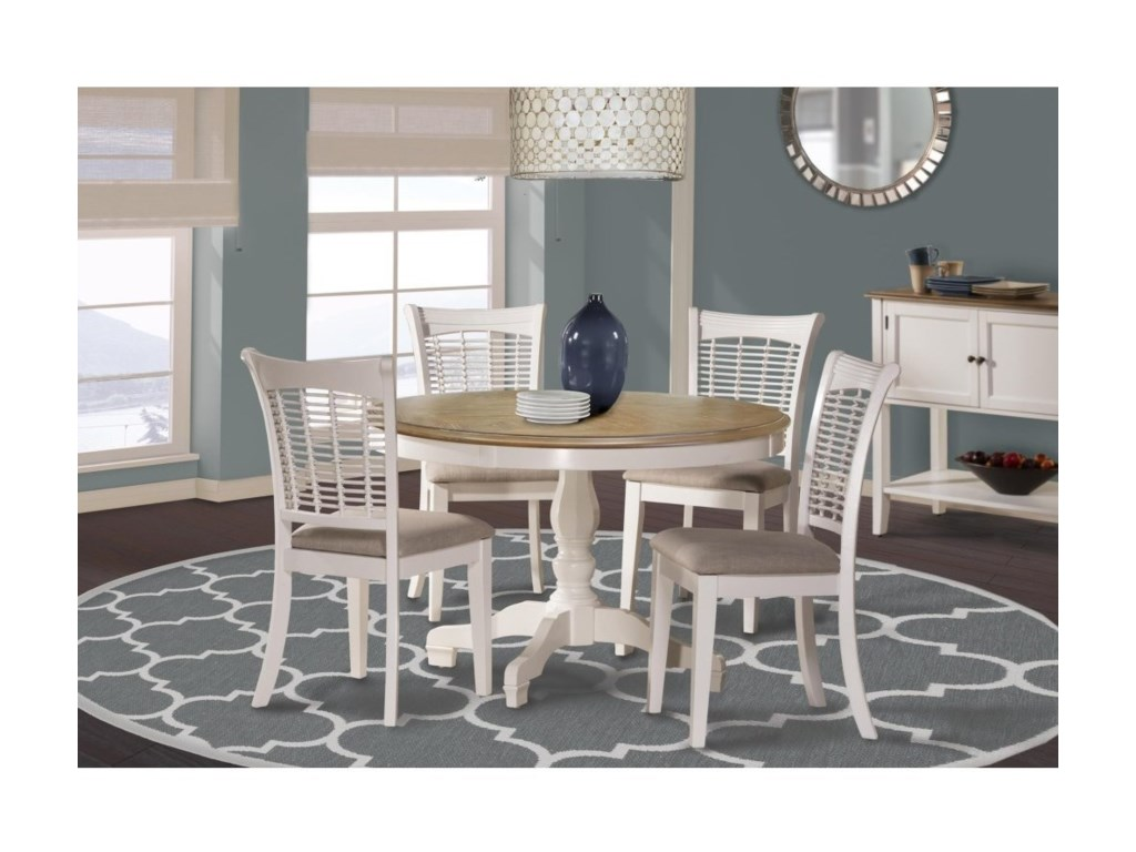 Hillsdale Bayberry WhiteRound Table