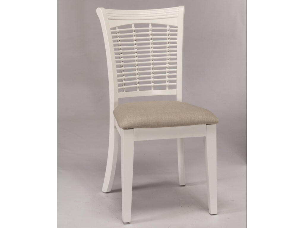 Hillsdale Bayberry WhiteWicker Dining Chair