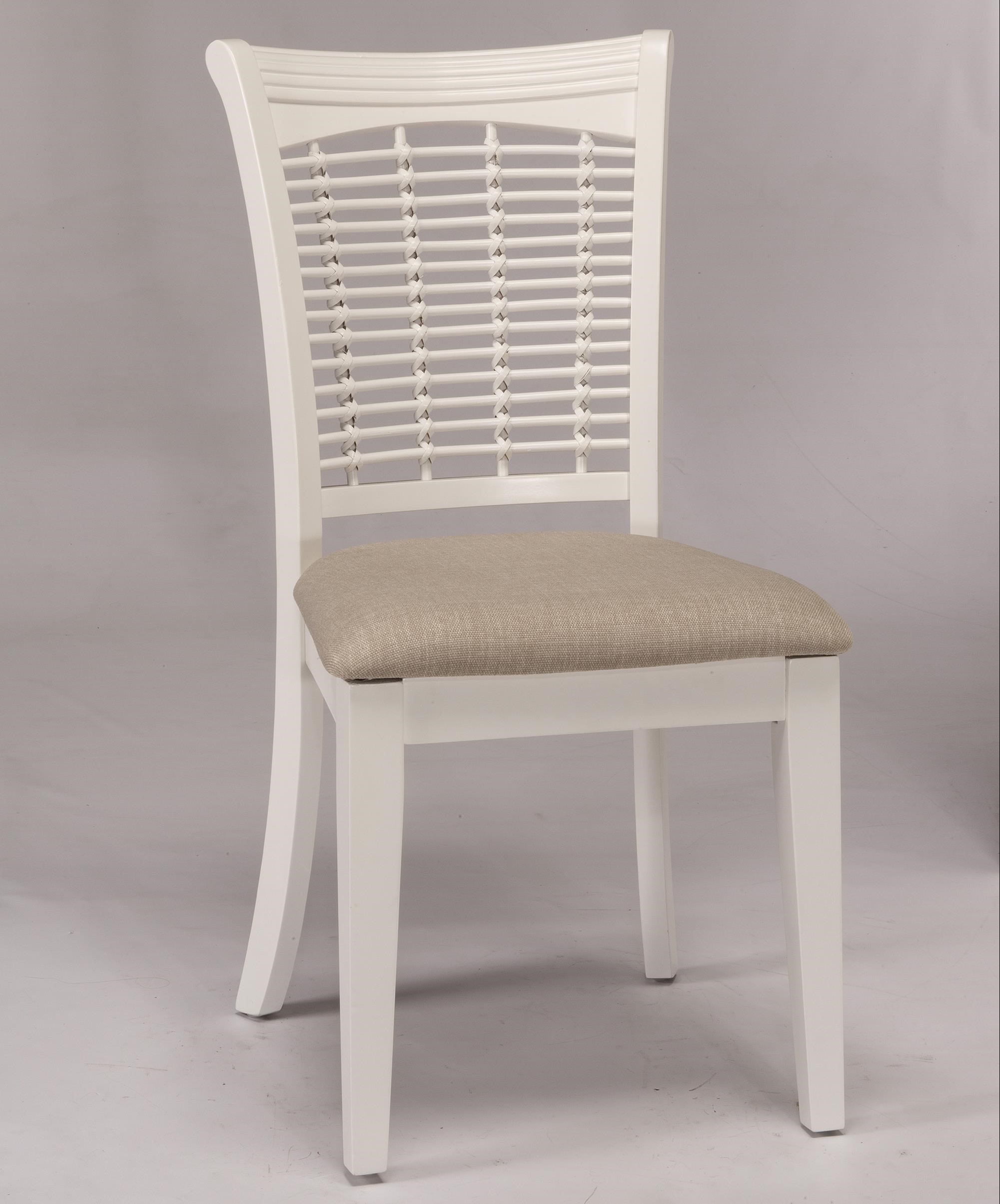 Hillsdale Bayberry White Set Of Two Wicker Dining Side Chairs