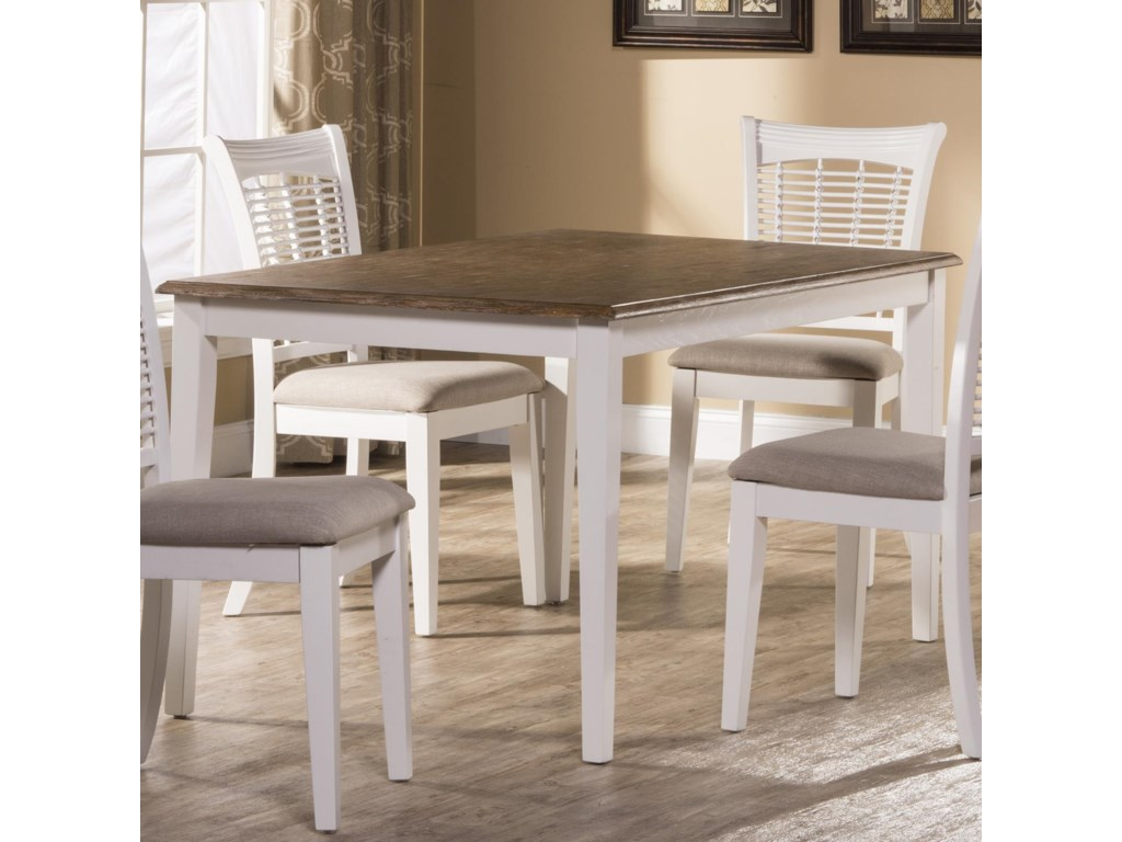 Hillsdale Bayberry WhiteRectangular Dining Table