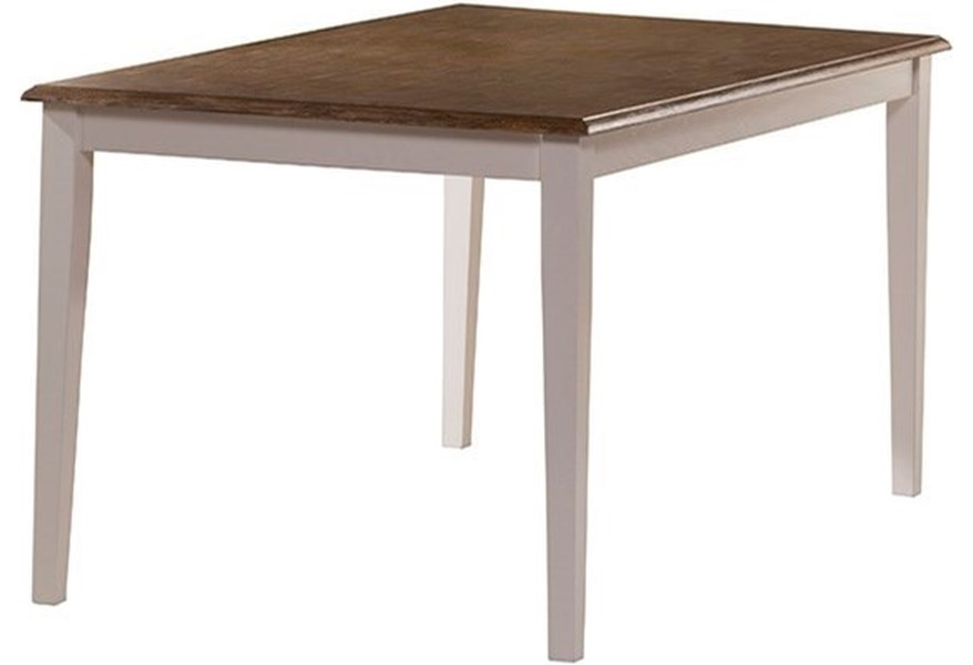 Bayberry White Casual Rectangular Dining Table by Hillsdale at Johnny  Janosik
