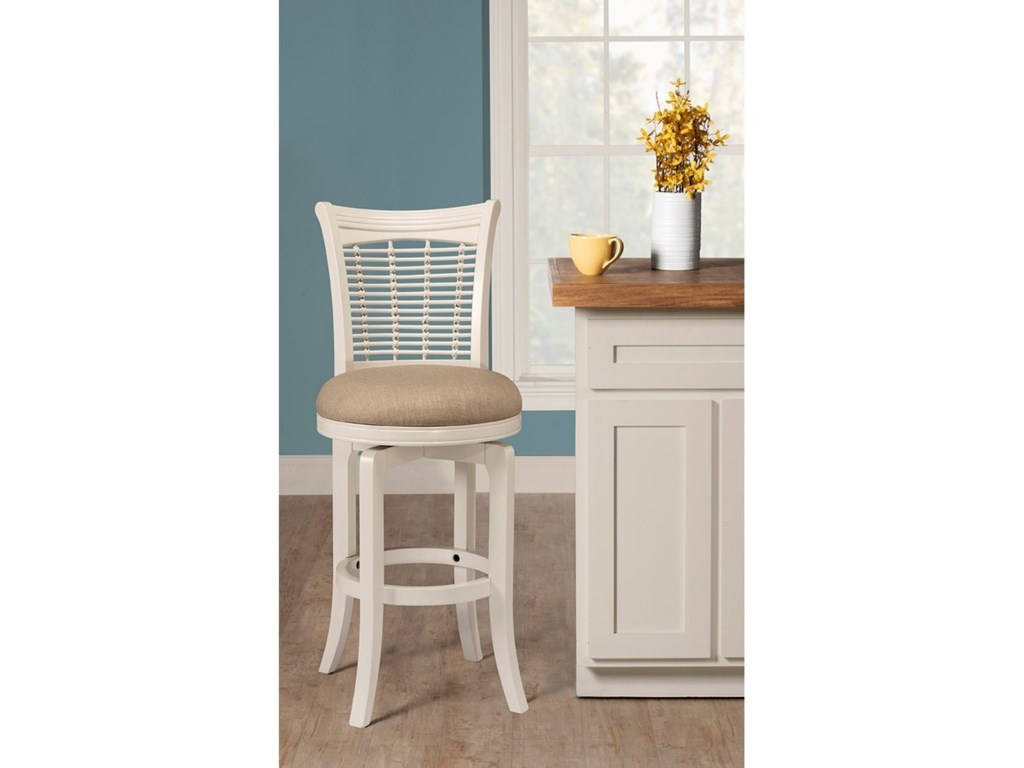 Hillsdale Bayberry WhiteSwivel Counter Stool