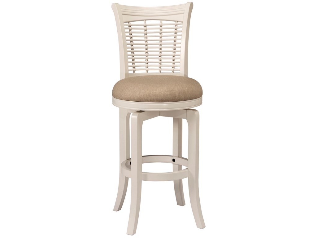 Hillsdale Bayberry WhiteSwivel Bar Stool