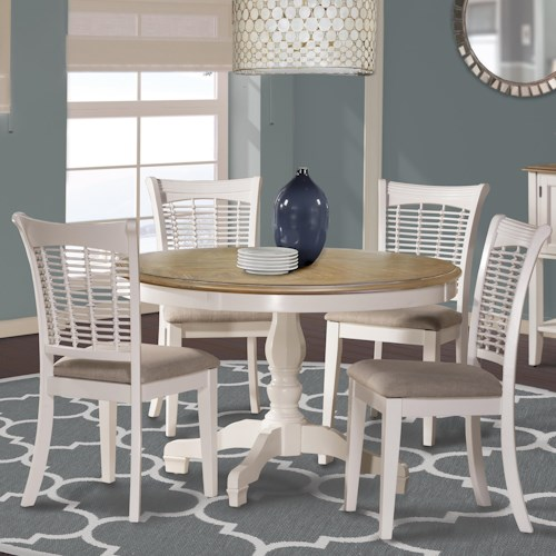 Hillsdale Bayberry White White Five Piece Dining Set