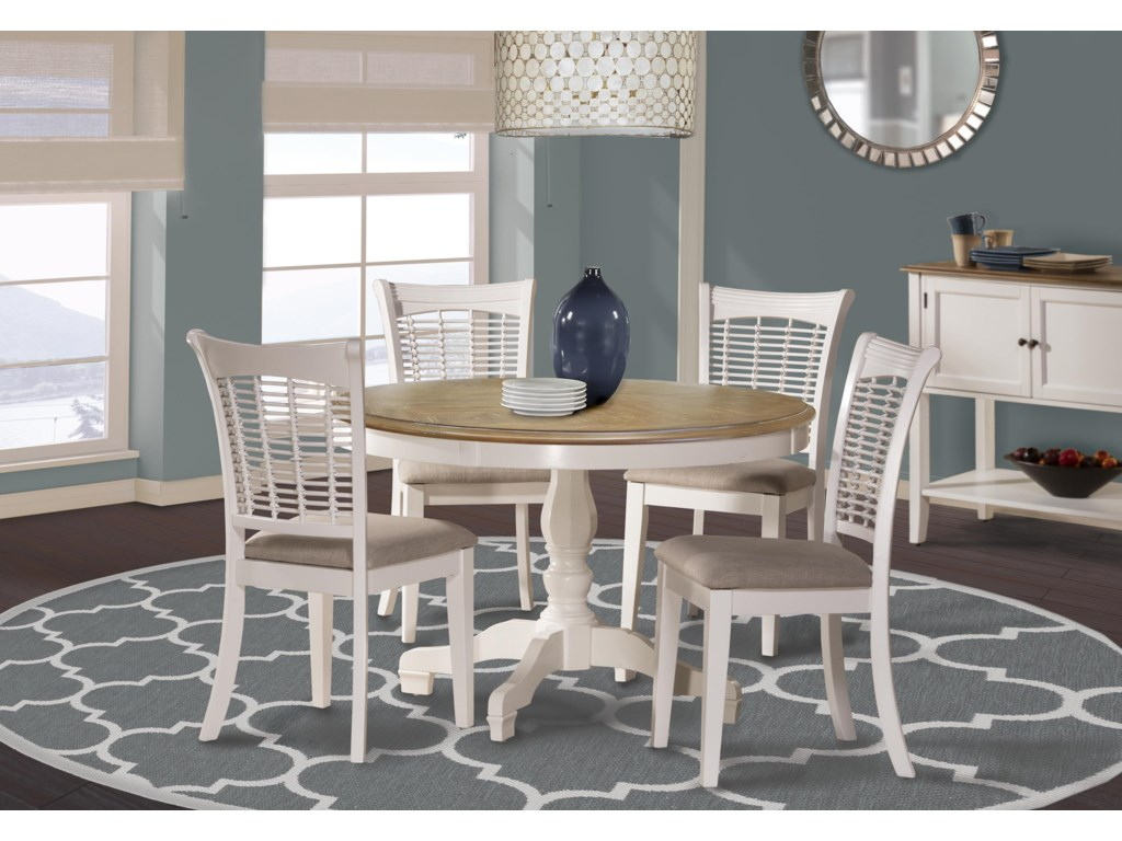 Hillsdale Bayberry WhiteFive Piece Dining Set