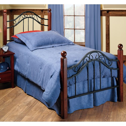 Hillsdale Metal Beds Twin Madison Bed