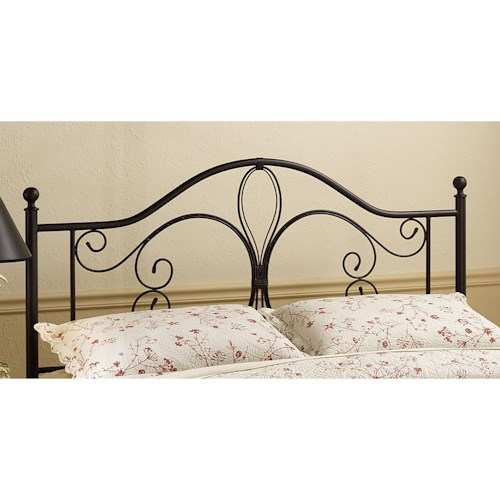Hillsdale Metal Beds King Milwaukee Headboard with Rails