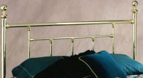 Hillsdale Metal Beds Full Brass Headboard with Rails