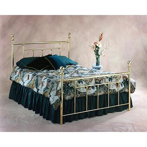 Hillsdale Metal Beds Brass Queen Headboard and Footboard Bed
