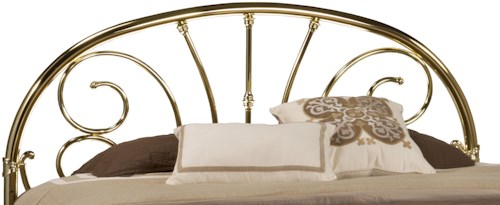 Hillsdale Metal Beds Brass Queen Headboard with Rails