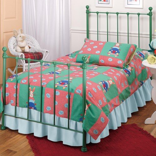 Hillsdale Metal Beds Twin Green Molly Bed