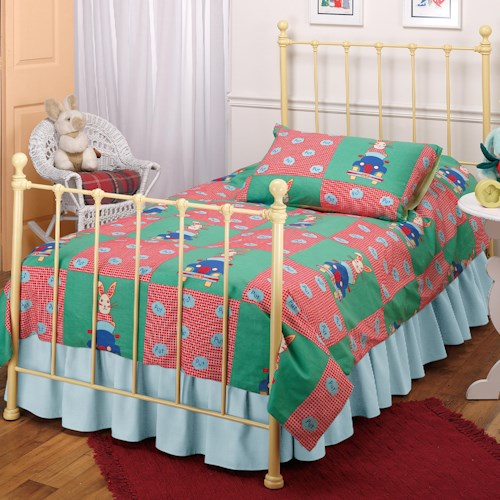 Hillsdale Metal Beds Twin Yellow Molly Bed