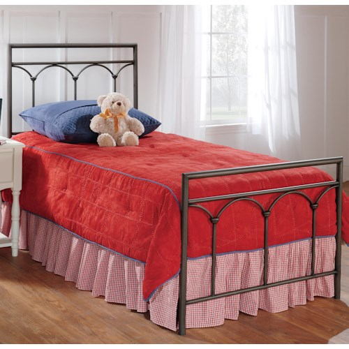 Hillsdale Metal Beds Twin McKenzie Panel Bed