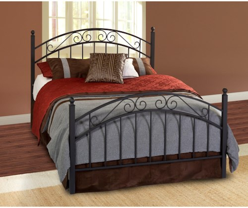 Hillsdale Metal Beds King Willow Bed Set - Rails not included