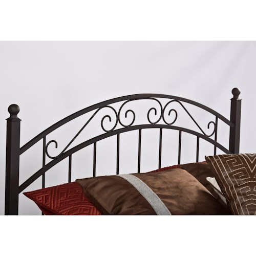 Hillsdale Metal Beds King Willow Headboard with Rails