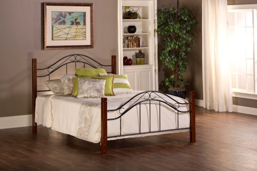 Hillsdale Metal Beds Matson King Bed Set with Arched Headboard and Without Rails