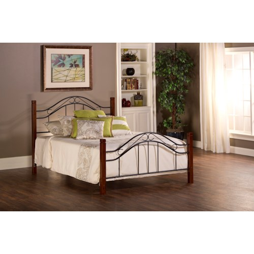 Hillsdale Metal Beds Matson Full Bed Set with Arched Headboard and Without Rails