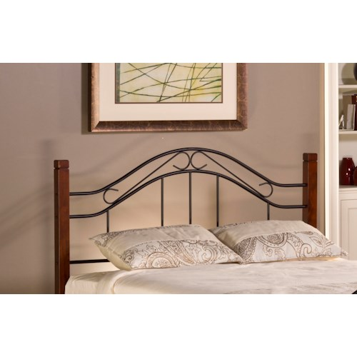 Hillsdale Metal Beds Matson King Headboard with Rails with Arched Headboard