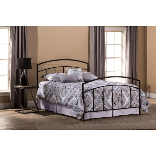 Hillsdale Metal Beds Metal Full Bed Set with Rails