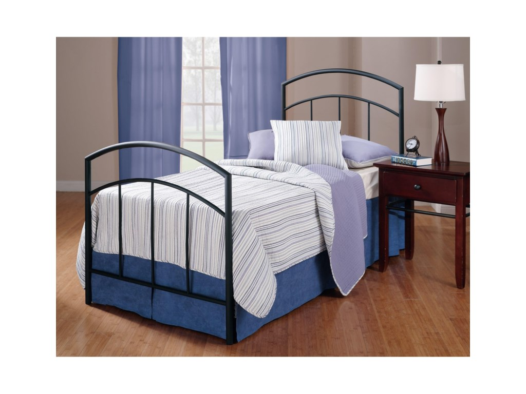 Hillsdale Metal BedsTwin Bed Set with Rails