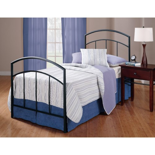 Hillsdale Metal Beds Metal Twin Bed Set with Rails