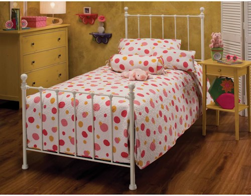 Hillsdale Metal Beds Full Molly Bed Set with Rails