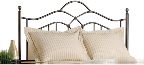 Hillsdale Metal Beds Full/Queen Oklahoma Headboard with Rails