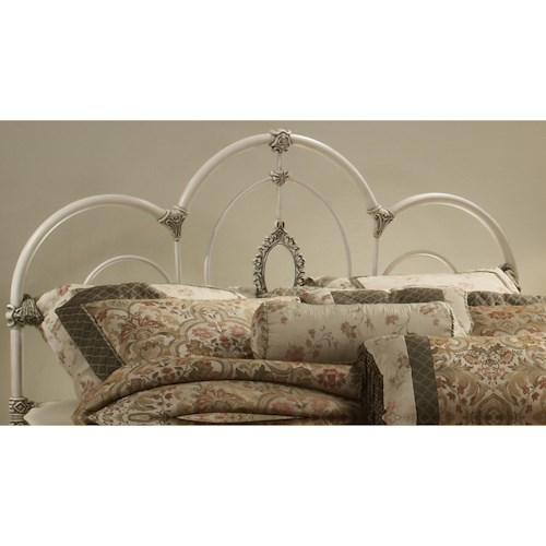 Hillsdale Metal Beds Twin Victoria Headboard with Rails