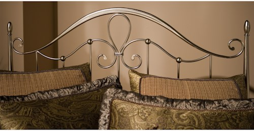 Hillsdale Metal Beds Doheny King Headboard with Flur De Lies Accent