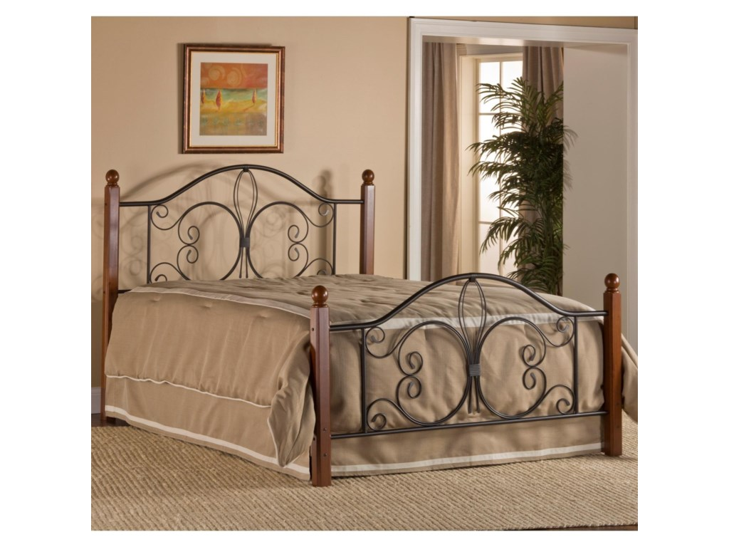 Hillsdale Metal Beds 1422BFRP Full Milwaukee Wood Post Bed with ...
