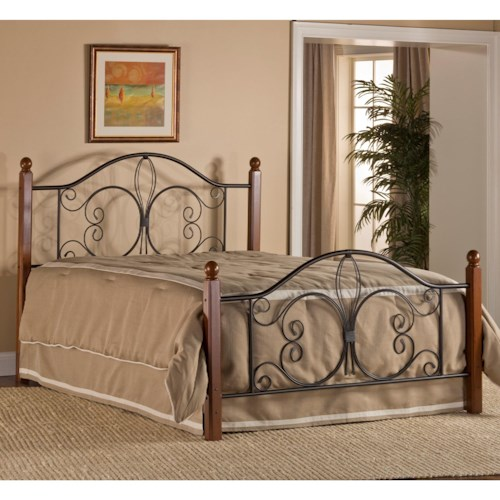 Hillsdale Metal Beds King Milwaukee Wood Post Bed with Frame