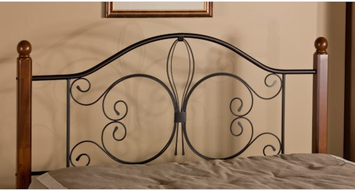 Hillsdale Metal Beds Full/Queen Milwaukee Wood Post Headboard with Frame