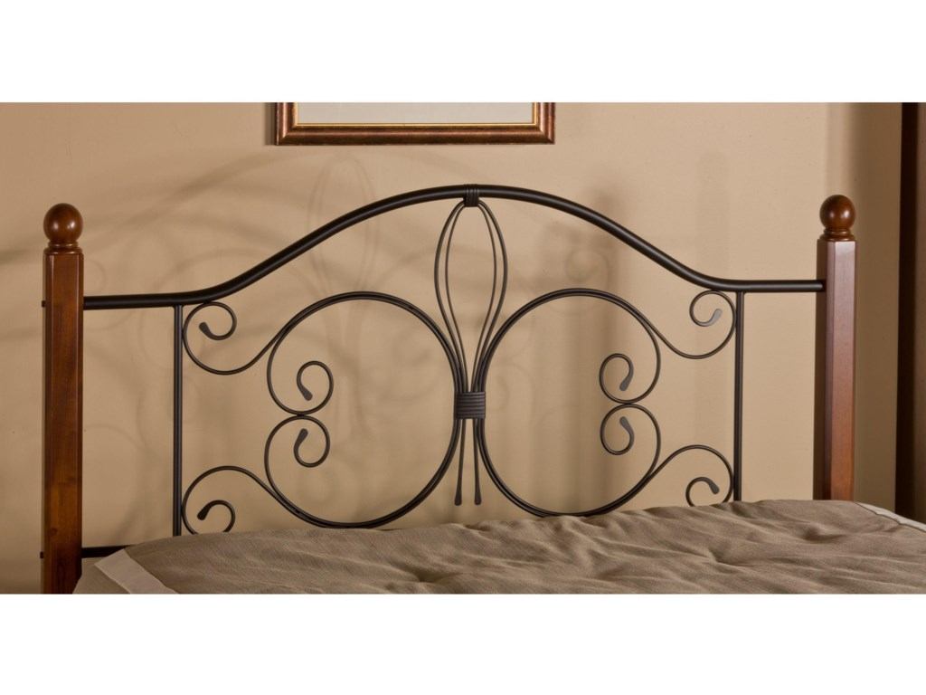 Hillsdale Metal BedsKing Milwaukee Wood Post Headboard