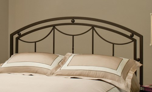 Hillsdale Metal Beds Arlington Metal King Headboard with Rails