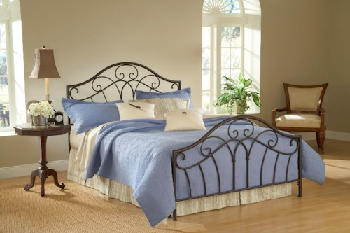 Hillsdale Metal Beds Josephine Queen Bed with Arched Headboard