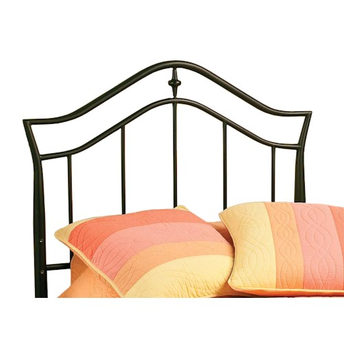 Hillsdale Metal Beds Imperial Black Metal Twin Headboard with Rails