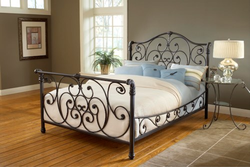 Hillsdale Metal Beds Mandalay Queen Bed Set with Intricate Designs