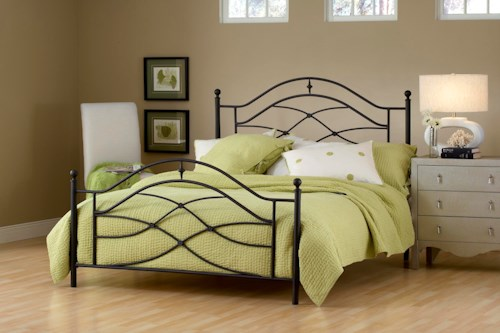 Hillsdale Metal Beds Cole Twin Bed with Arched Headboard and Footboard