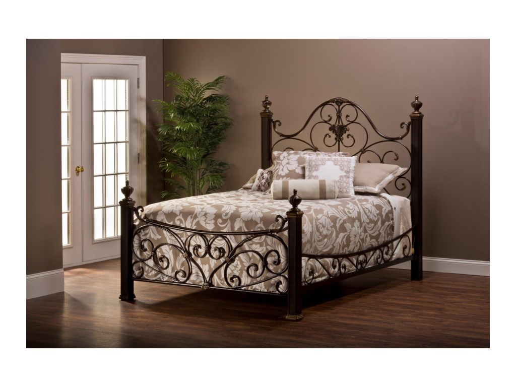 Metal Beds Metal Queen Bed Set with Rails by Hillsdale at Miller Home