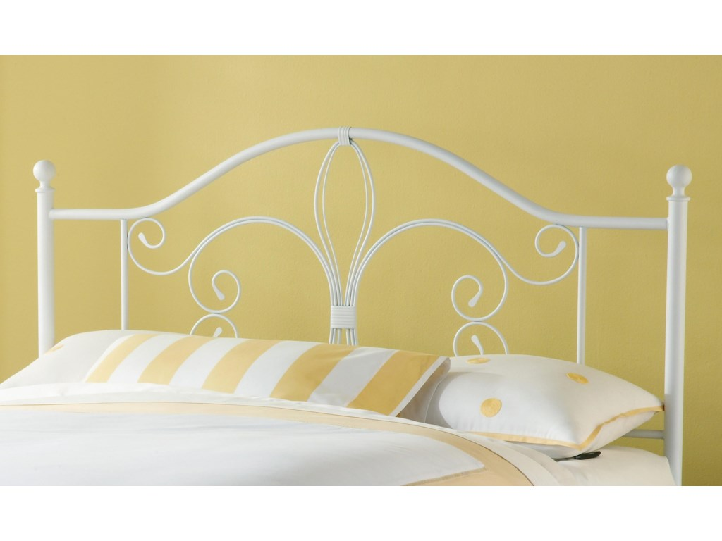 Hillsdale Metal Beds Ruby Duo Panel King Bed with Fleur De Lis ...