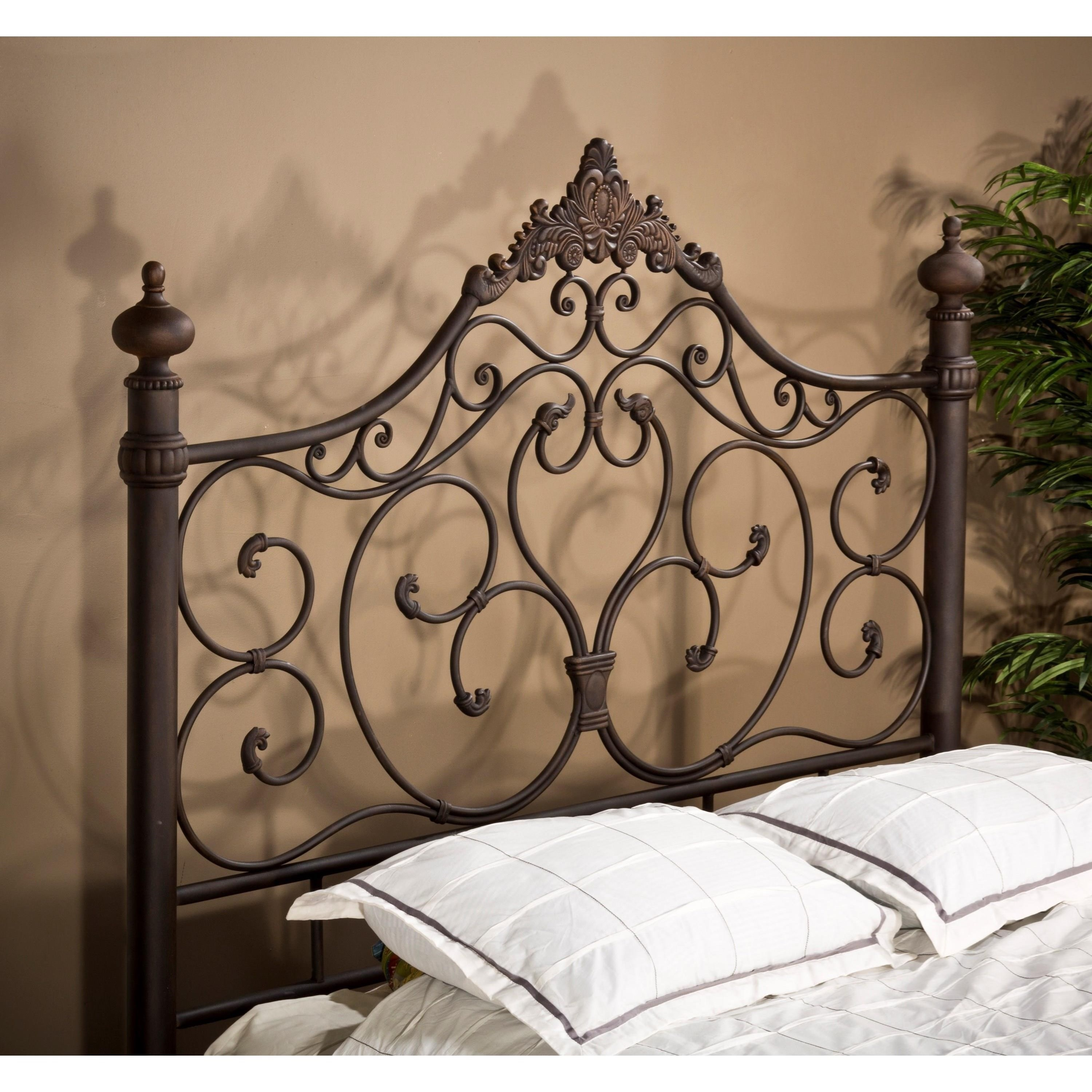 Hillsdale Metal Beds Metal Queen Headboard With Rails Superstore Headboards