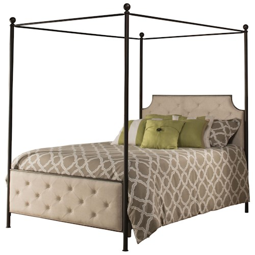 Hillsdale Metal Beds Canopy Queen Bed Set - Rails Not Included